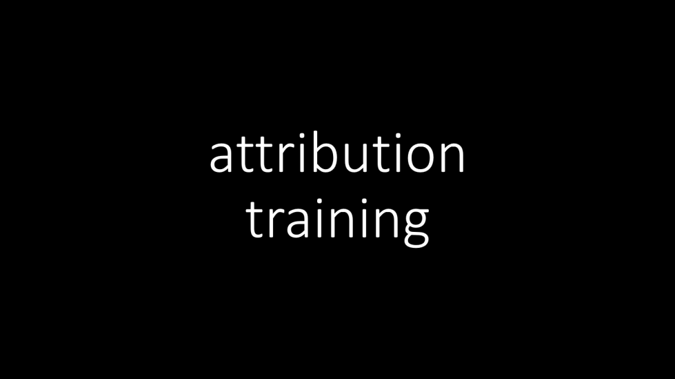 attribution training